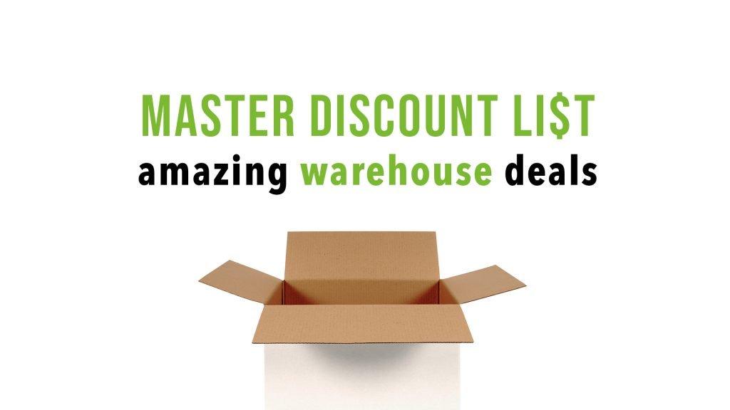 Amazon Warehouse Deals Master Discount List